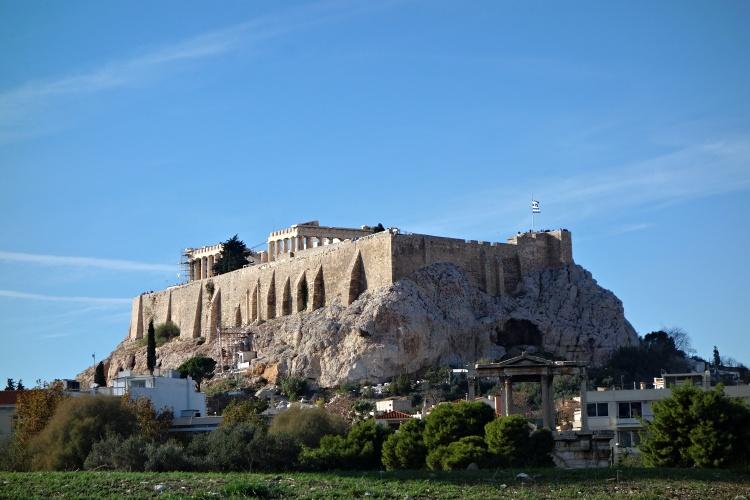 The Acropolis dominates the cityscape of Athens