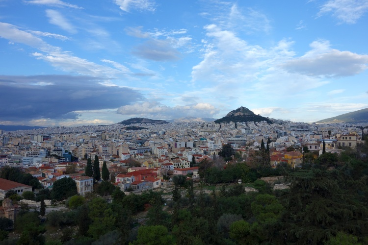 Head to the Filopappou Hill for great views of Athens