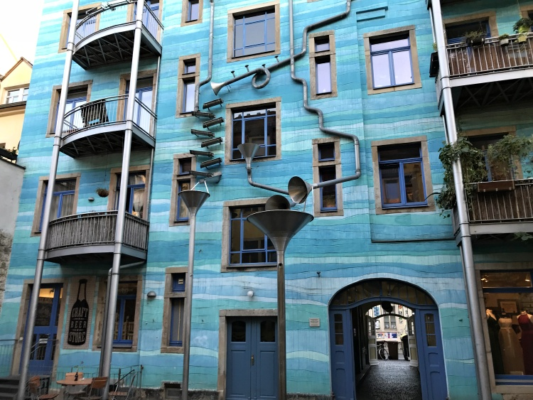 If you like art, don't miss the Kunsthofpassage in the New Town of Dresden