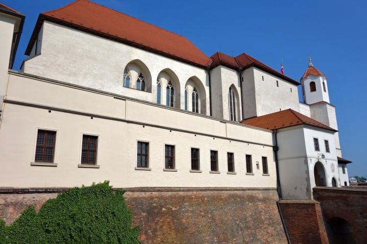 Spilberk Castle overlooks the city of Brno