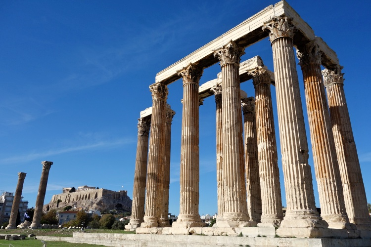 The Temple of Olympian Zeus was once the largest temple in the ancient world