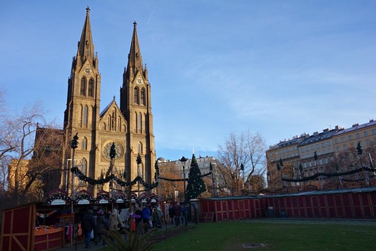 Visit the Christmas market at Peace Square for the more authentic experience