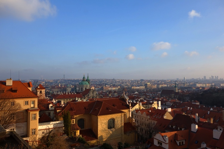Don't miss the beautiful views on the way up to Prague Castle