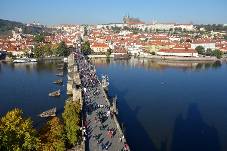 The views of Prague from the towers of Charles Bridge are stunning
