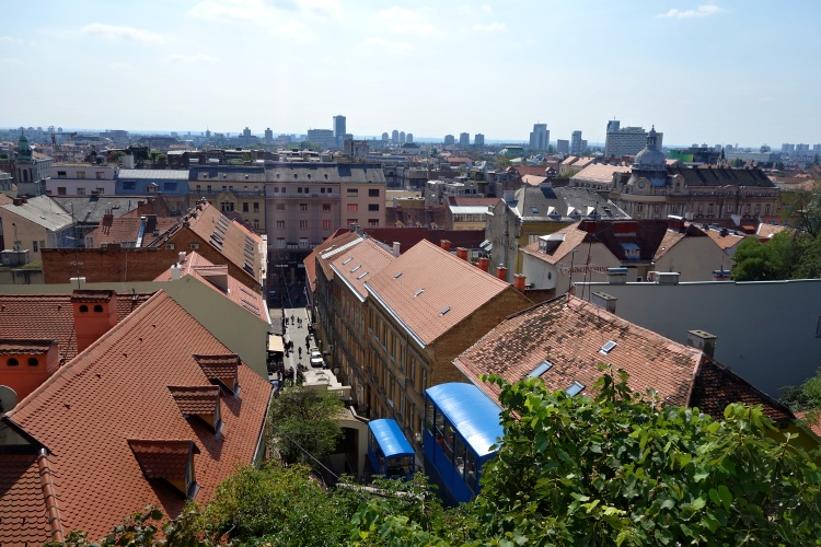 The historic funicular in Zagreb is one of the shortest in the world