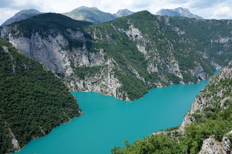 Lake Piva is one of the incredible places to visit in Montenegro