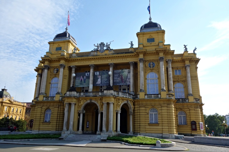 The majestic building of the National Theatre Zagreb dates to the 19th century