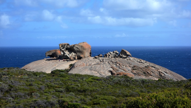 Remarkable Rocks are a group of unusually-shaped granite boulders overlooking the ocean