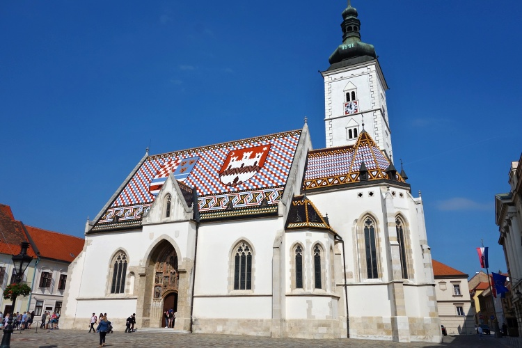 You can't miss Saint Mark's Church with its colourful roof