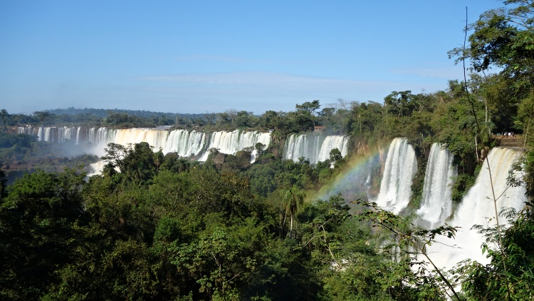 In Argentina, you can stay in Puerto Iguazu or inside the National Park