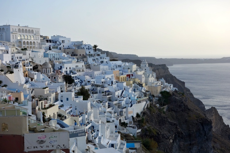 Fira is the busiest town in Santorini
