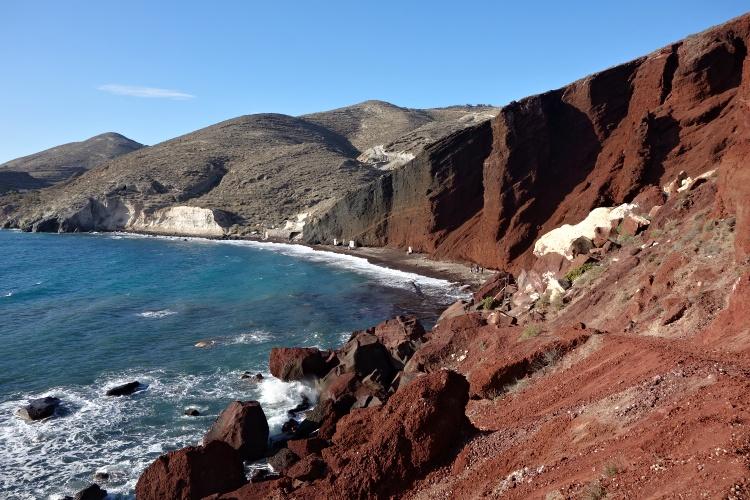 Each of the beaches in Santorini is unique