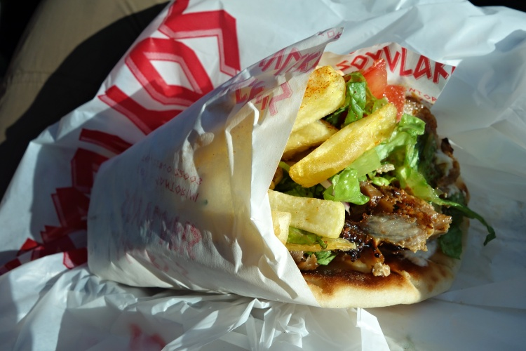 Gyros is typical fast food in Greece - delicious and cheap